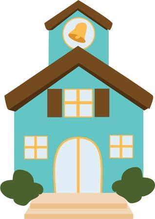 alma: Put a sweet little school house on a book bag.
