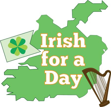 irish map: Celebrate Ireland and your Irish heritage and make a great keepsake with this design on tshirts jackets sweatshirts hats and more Illustration