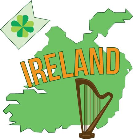 erin: Celebrate Ireland and your Irish heritage and make a great keepsake with this design on tshirts jackets sweatshirts hats and more Illustration