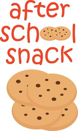 after school: Accent a bag for an after school snack treat.