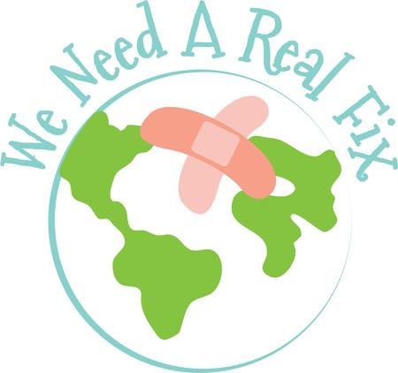 responsible: Help heal the earth by being responsible and recycling.