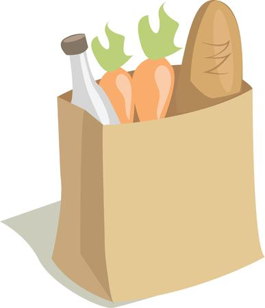 new employees: Promote your new grocery store with this perfect image.  Perfect to add to employees aprons.
