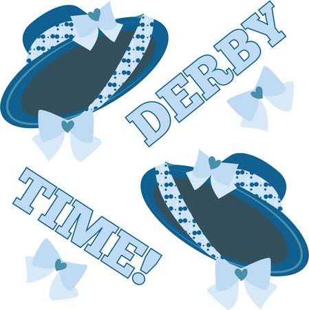 derby hats: Spark your imagination  This whimsical design will be perfect on quilts throw pillows napkins and more Illustration