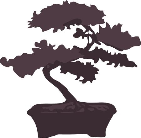 woodsy: Bring woodsy appeal to your home projects with this tree design Illustration