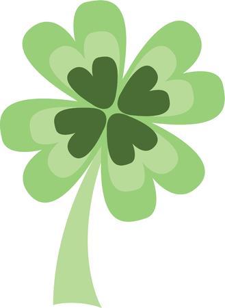 erin: Celebrate the Irish holiday with a shamrock. Illustration