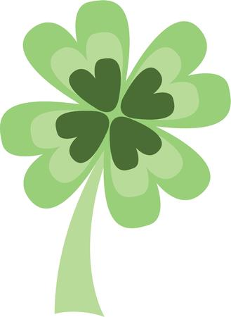 st paddy s day: Celebrate the Irish holiday with a shamrock. Illustration