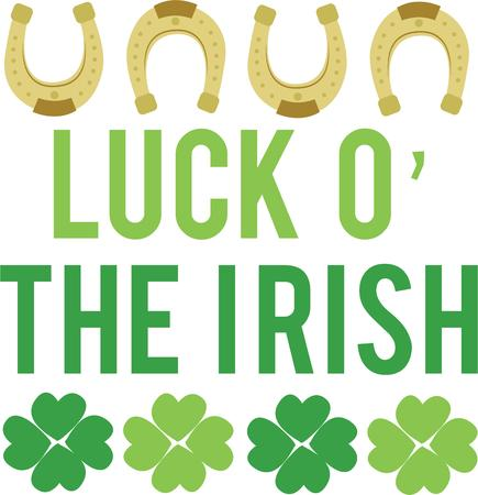 st paddy s day: Be extra lucky with a shamrock horseshoe.