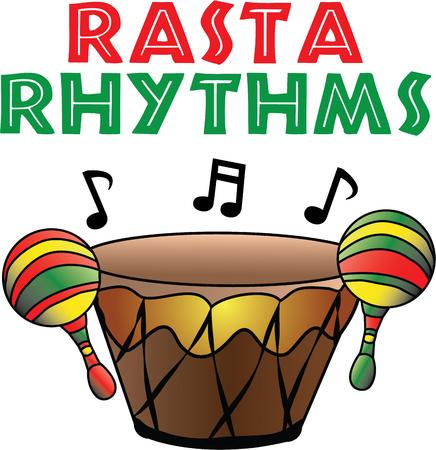 rhythmical: The drums are accompanied by the rhythmical beating of the sticks and maracas. Illustration