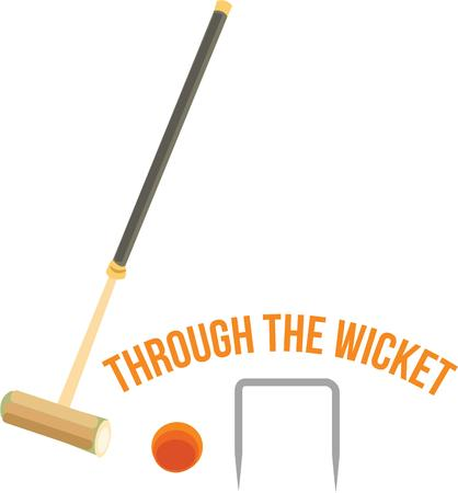 wicket: Have a fun game of croquet anytime with this design.