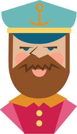 anchor man: Make a special cap for a boat captain.