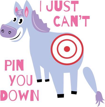donkey tail: Juega a este juego a su fiesta de cumplea�os de la diversi�n para todas las edades Grandes en las camisetas de las camisetas de toallas y m�s