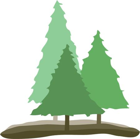 appeal: Bring woodsy appeal to your home projects with this tree design Illustration