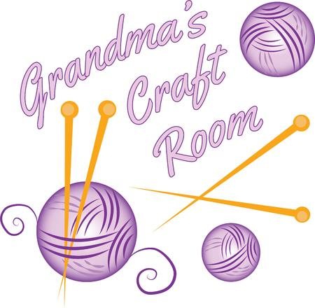 reminisce: Find comfort in a craft that your grandma loves so much.  Reminisce with this design on a keepsake for grandma on framed embroidery tshirts sweatshirts towels and more.