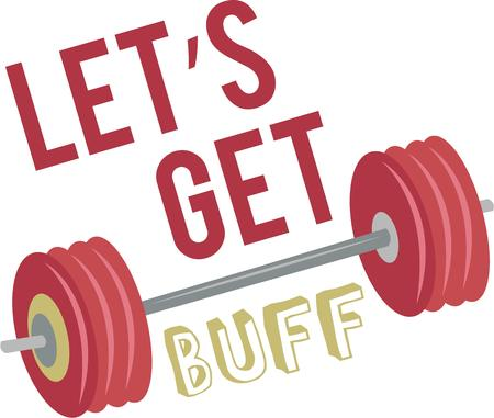 great work: Work out with some great barbells. Illustration
