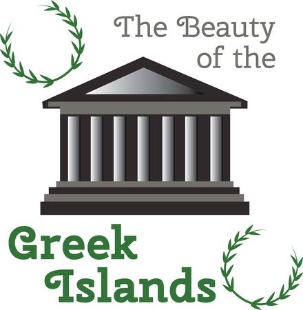 greek islands: Capture the center of the Greek civilization steeped in history and make a great keepsake with this design on tshirts jackets sweatshirts hats and more