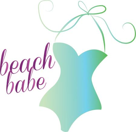 beach babe: Hang loose and enjoy mile long stretches of white surf sand waves and seabirds with this design on beach bags towels tshirts and more