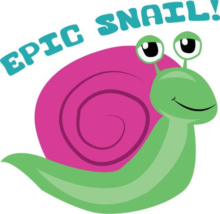 steady: Who has been nibbling at the edges of your pansies in your flower bed  Wage a war on the pesky snails with this design on your indoor projects Illustration