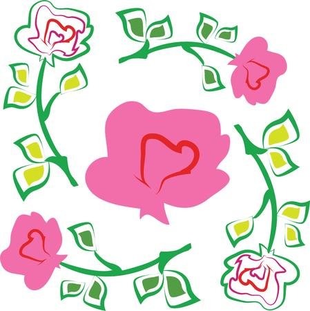 might: No matter what the reason or occasion might be, roses say it the best.  Make someone feel loved with this design on your gifts for them! Illustration