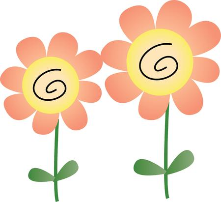 universally: Flowers are the universally popular motif for embroidery.   Make a perfect gift every time with this design on clothes household linen and more. Illustration