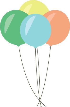 lets party: Balloons make any celebration more special  Indulge with these colorful festive and fun decorations on special occasion projects Illustration