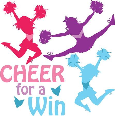 pratice: Got spirit Get fired up and ready to win with this charming cheerleader design on personalized projects for your loved ones