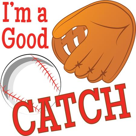 catch: Catch the Baseball fever  Every strike brings you closer to the next home run with this design on your projects for the baseball lovers Illustration