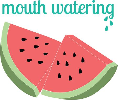 watery: Enjoy the classic summer road stand fruit with this design on kitchen linen, tablecloths, napkins and more! Illustration