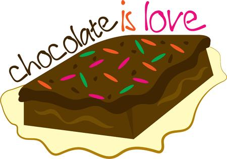 chocoholic: The smell of fresh baked brownies is the most enticing aroma on the planet.  Get this appetizing design on your home projects