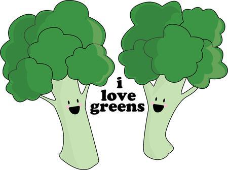 vegetarians: Vegetarians will love a funny broccoli. Illustration