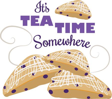 scone: The smell of fresh baked scones is the most enticing aroma on the planet.  Get this appetizing design on your home projects
