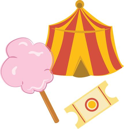 fairs: Enjoy the candy treat perfect for carnivals, the circus, town fairs and parades with this design on personalized gifts for kids, toddlers, and babies.