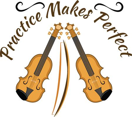 fiddles: Looking for the perfect Birthday or Christmas gift Embroider this design on clothes towels pillows gym bags quilts tshirts jackets or wall hangings for your music lovers Illustration