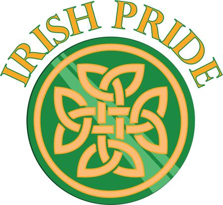 irish pride: Bring the five basic elements of the universe fire water sun earth and air into balance with this design on your holiday projects