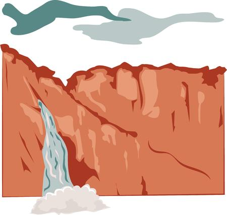 national parks: Many a calm river begins as a turbulent waterfall, yet none hurtles and foams all the way to the sea. Illustration