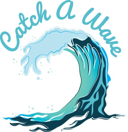 swell: Hit the beach catch a wave It is an adventure of tall crashing waves and long surfboards with this design on beach bags towels tshirts and more