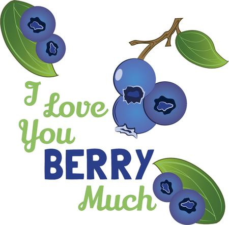 splendid: Create a splendid look for summer with tasty blueberries on place mats and linens Illustration