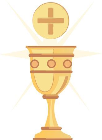 eucharistie: Cette conception est parfaite pour une vari�t� de projets religiousthemed tels que couvertures de la Bible et des signets premiers cadeaux de communion et plus.