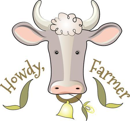 cow bells: Las granjas y los animales de granja son un tema permanente con los j�venes y j�venes de coraz�n. Cree regalos �nicos para sus seres queridos con este dise�o en las camisetas sudaderas Totes tapices y m�s