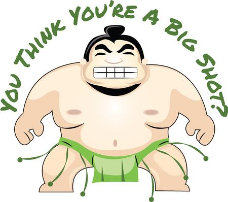 eastern culture: The Sumo wrestler is the perfect image for your next design. Illustration