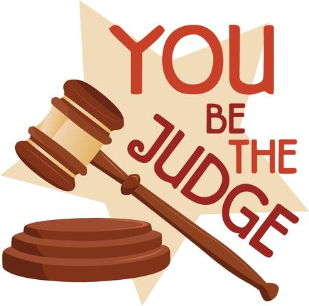 judges: Judges will appreciate a homemade gift embroidered with the gavel  Get creative on gifts for loved ones.