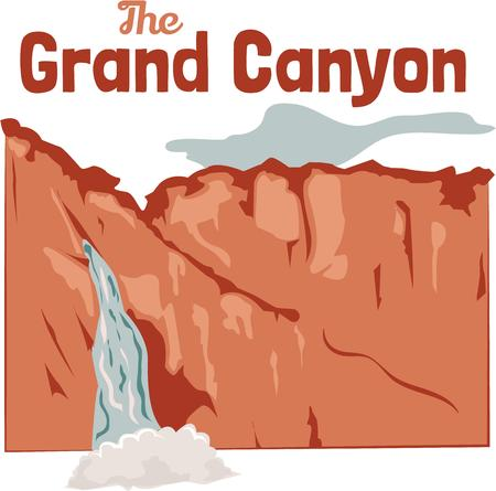 grand canyon: Many a calm river begins as a turbulent waterfall yet none hurtles and foams all the way to the sea.