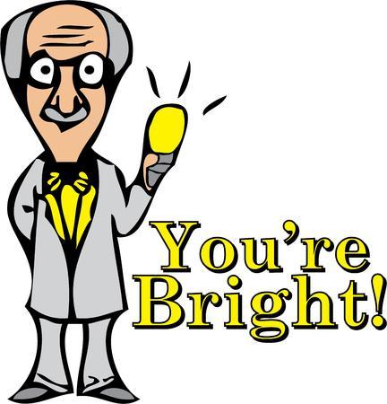 einstein: Einstein invented the light bulb.  Add this design to inspire your class.