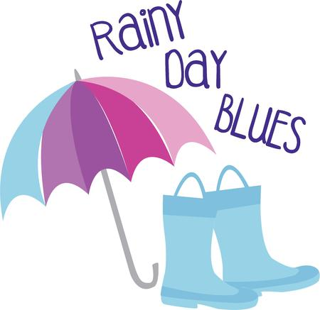 brolly: Would there be a rainbow if there was no rain  Enjoy a walk in the rain with this design on your projects for loved ones Illustration