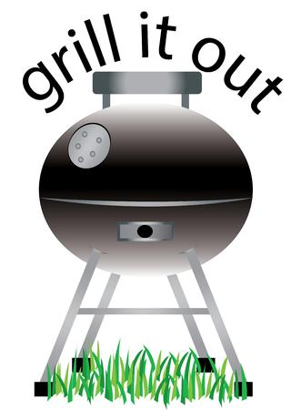 gas barbecue: Cookin barbeque on a nice summer day enjoying the family picnic Time for some kabobs.  Perfect to add to your next tailgating party