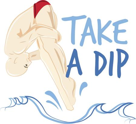 backflip: This diver image is the perfect design for a swim team.