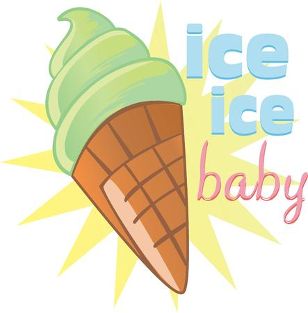 gelato: Kids enjoy ice cream cones on a hot summer afternoon.  These are perfect to go on a picnic.  Everyone will love them