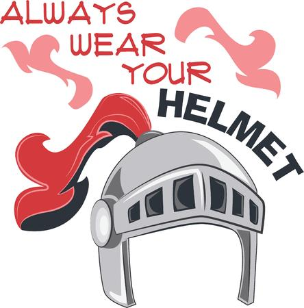 the protector: Remember to always wear your helmet.  Be safe Illustration
