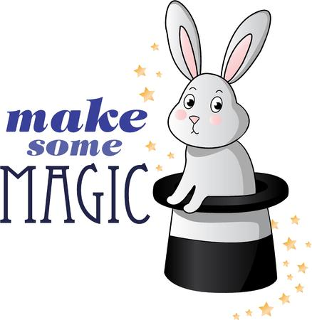 topper: This magical bunny is perfect for your next magic show.
