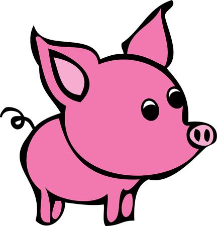 oink: This cute pig is perfect to add to a nursery.