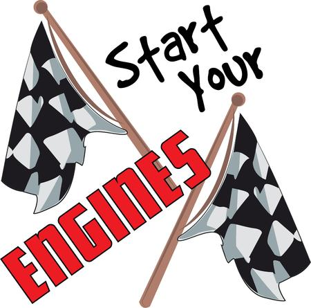 motorsport: Get ready to start the race with these flags.